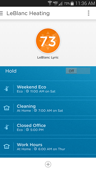 Honeywell Lyric Home Screen