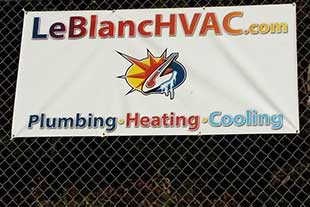 LeBlanc HVAC Sponsorship Sign