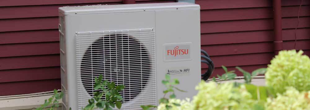 Fujitsu ductless mini split heating and cooling