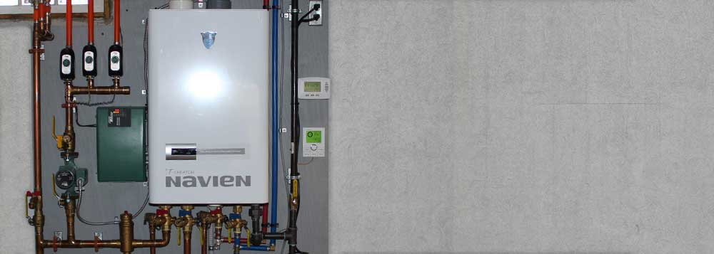 Navien 98 percent efficient boilers