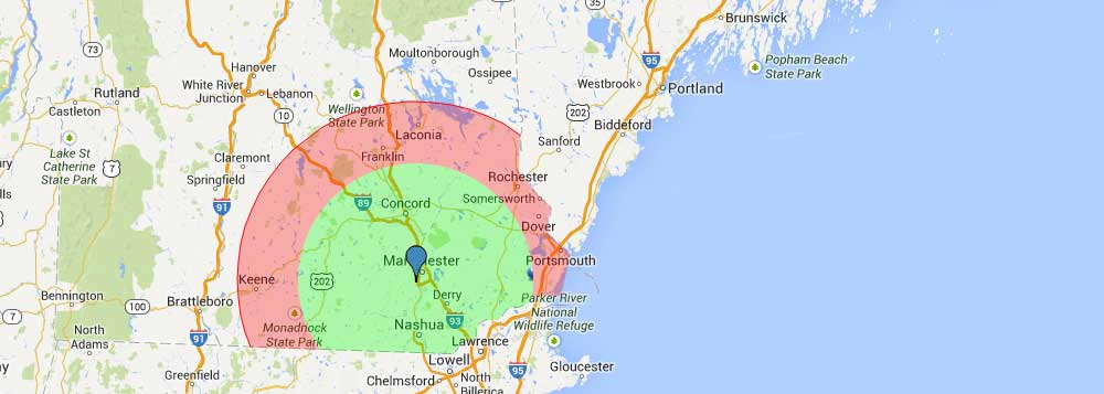 A.J. LeBlanc Heating Service Area - Hopkinton